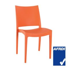 Modern and funky in orange, the Specta chair is a great way to add colourful personality to your terrace or outside dining space. Stackable and lightweight, they make the ideal choice for busy establishments. Outdoor Cafe, Outdoor Chairs, Orange Cafe, Cafe Furniture, Cafe Chairs, Dining, Modern, Inspiration, Exploring