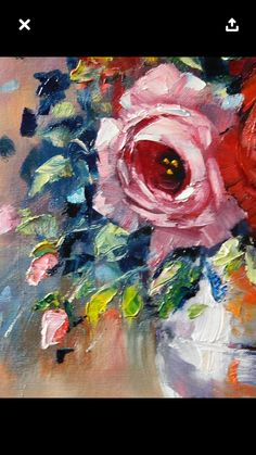 Oil on canvas don by brunhilde du toit oil painting акварельные цветы, иску Acrylic Painting Flowers, Abstract Flowers, Watercolor Paintings, Flower Paintings, Painting Frames, Rose Art, Arte Floral, Art Oil, Painting Inspiration
