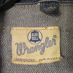 Vintage 1940s/50s Wrangler Blue Bell Denim Jacket label by wearitsatvintage, via Flickr