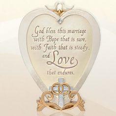 Wedding Blessing Plaque Gift Prayer Religious