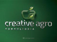 Logotipo criado pela Ópera para a Creative Agro, empresa de consultoria agrária da cidade de Petrolina | PE.