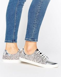 Lost Ink Paige Multi Glitter Toe Cap Sneakers