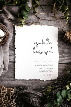 wedding invitations templates Modern Minimalist Wedding Invitation Template for the chic bride. Shop now. Handwritten Wedding Invitations, Minimalist Wedding Invitations, Printable Wedding Invitations, Wedding Stationary, Diy Invitations, Autumn Wedding Invitations, Invitation Cards, Invites, Invitation Wording