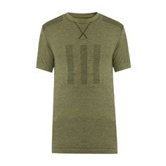 Adidas by Day One Seamless performance T-shirt (280 BRL) ❤ liked on Polyvore featuring men's fashion, men's clothing, men's shirts, men's t-shirts, green multi, mens slim shirts, mens slim fit t shirts, mens jersey shirts, mens slim t shirts and mens striped t shirt