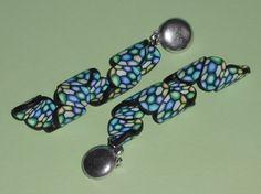 """Ohrclips - Ohrclips """"Spirale blau-grün """" - ein Designerstück von iCo-Design bei DaWanda"""