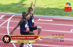 Fake Olympic sports on 30 Rock: Synchronized Running, Tetherball, Octuples Tennis