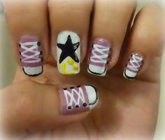 Converse inspired nail art. :)