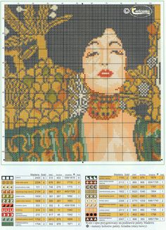 GRAFICOS PUNTO DE CRUZ GRATIS : CUADROS KLIMT(9) Cross Stitch Bookmarks, Cute Cross Stitch, Cross Stitch Cards, Cross Stitch Alphabet, Cross Stitch Designs, Cross Stitching, Cross Stitch Embroidery, Cross Stitch Patterns, Pixel Art