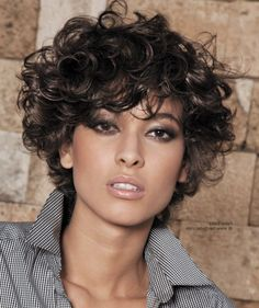 Lots of celebrities these days sport short curly hair styles, but some of them really stand out. When we think of curly short hair, the image of AnnaLynne Thick Curly Hair, Curly Hair Cuts, Short Hair Cuts, Curly Hair Styles, Natural Hair Styles, Curly Short, Frizzy Hair, Pixie Cuts, Kinky Hair