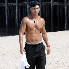 Pauly d .. Guilty pleasure. yes i have a thing for Pauly D from the jersey shore. funny personality and seriously look at that body