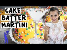 ▶ How to make the Cake Batter Martini - Tipsy Bartender - YouTube Cake Batter Martini:  1 1/2oz Cake Vodka 1 1/2oz White Creme de Cacao 1/2oz Amaretto 1/2oz White Chocolatel Liqueur 1oz Heavy Whipping Cream White Cake Frosting  Sprinkles *As the sprinkles fall into the drink they create that color pattern in the class.