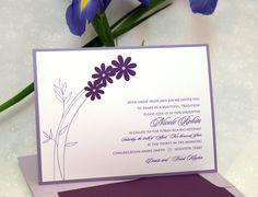 Nicole Robin: Bat Mitzvah Invitation featuring Glo-brite on Thistle with Purple Silk Applique. Bar mitzvah and bat mitzvah party invitation, Bar bat mitzvah invitation.