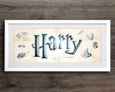 Excited to share the latest addition to my #etsy shop: Harry Potter Print, Personalised Name Sign, Harry Potter Art, Nursery Wall Art, Harry Potter Nursery Decor, Nursery Art, Harry Potter Name