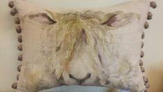 Shaggy sheep cushion