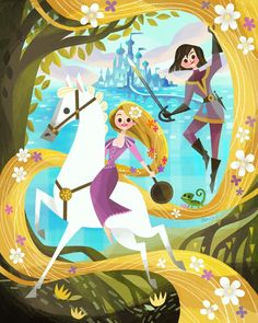 Tangled the Series/Rapunzel's Tangled Adventure art by Joey Chou