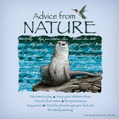 Advice From Nature | Advice from Nature - 2013 Linen Calendar Calendars - at…