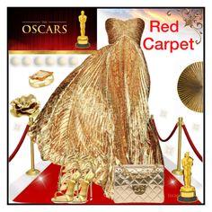 """Red Carpet Look"" by jeneric2015 ❤ liked on Polyvore featuring Rami Al Ali, Giuseppe Zanotti, Chanel, Oscar de la Renta, Burke Decor, Arteriors and RedCarpet"