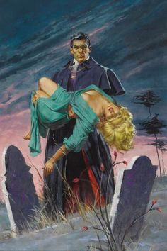 Paperback cover art for Brides of Dracula (1960), artist unknown.