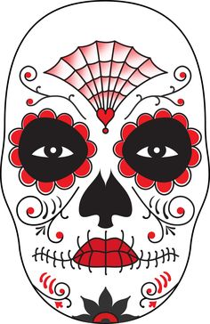 surface fragments : How To Make a Day of The Dead Mask