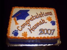 High Schools Graduation Cakes Design | Pin School Colors Graduation Ideas Gallery Party City Cake on ...