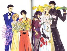 CLAMP, Wish, Wish Memorial Illustrations, Ruri (Wish), Hisui (Wish)