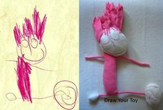 send them a picture of your child's drawing and they create a stuffed version.