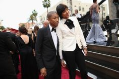 News Photo: Songwriter Pharrell Williams and guest attend the Oscars…