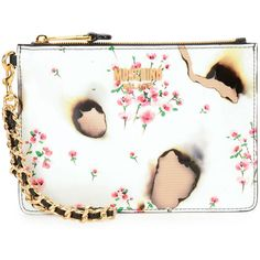 Moschino Burned Floral-Print Clutch Bag ($455) ❤ liked on Polyvore featuring bags, handbags, clutches, multi colors, floral purse, colorful purses, moschino handbags, multi color purse and multi colored handbags