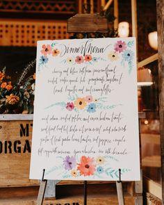 33 Pretty and Unexpected Wedding Menu Ideas Wedding Signage, Wedding Menu, Wedding Reception Decorations, Wedding Ideas, Reception Ideas, Cocktail List, Signature Cocktail, Geometric Wedding, Green Wedding Shoes