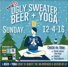 The worst dress charity event of the year could be the most fun! Try ugly sweater yoga during your Ramada Rockville Centre stay! Book your stay at www.RamadaRVC.com! #Uglysweater #yoga #charity #fun #worstdressed #season #party #tistheseason #craft #brew #LongIsland #NewYork #RamadaRVC #hotel #inn  http://events.longisland.com/ugly-sweat-yoga.html