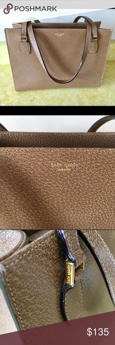 """Kate Spade Italy Brown Shoulder Bag Boarskin Like new or new. I really don't think it's been used. Measures 11"""" wide by 8 1/4"""" tall by 5"""" deep. Kate Spade Bags Shoulder Bags"""