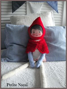 Little Red Riding Hood Doll Rotkäppchen Capuchinho vermelho  Handmade by Petite Numi