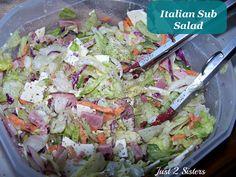 Italian Sub Salad Recipe - Just 2 Sisters