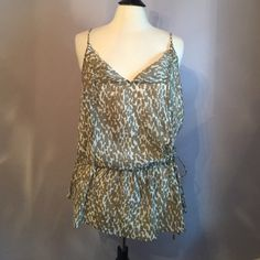 J. Crew Tunic Top 100% cotton top. Tie at waist to cinch. Drawstring at top allows you to adjust the length of the straps J. Crew Tops Tunics