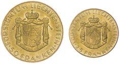 Set zu 75 Franken 1961 Set auf den 100. Jahrestag der Liechtensteiner Landesbank