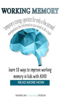 10 Ways to Improve Working Memory in ADHD Kids - - Help develop executive functioning skills - Learning Activities, Kids Learning, Elderly Activities, Dementia Activities, Counseling Activities, Physical Activities, Toddler Activities, Games To Improve Memory, Math Card Games