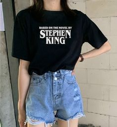 Buy Based on the Novel by Stephen King T Shirt - Horror Shirt / Fashion / Halloween Shirt / Losers Club / Vintage Shirt / Horror Fan Gift at Wish - Shopping Made Fun Halloween Fashion, Halloween Outfits, Halloween Shirt, Halloween Clothes, Halloween Gifts, Halloween Nails, Halloween Decorations, Tumblr Outfits, Indie Outfits
