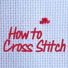 Learn how to cross stitch with this step-by-step tutorial - one of my all-time favourite crafts!