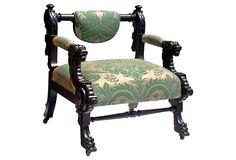 Egyptian Revival Chair w/ Fortuny Silk on OneKingsLane.com