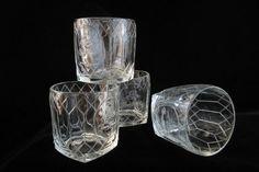 Crown Royal Whiskey Rocks Glasses Set Embossed by SaltwaterVillage
