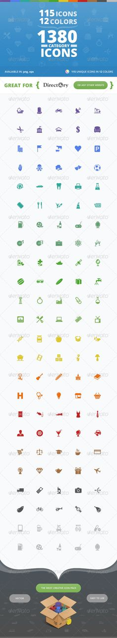 115 Unique Category Icons for Directory WP Theme | Buy and Download: http://graphicriver.net/item/115-unique-category-icons-for-directory-wp-theme/7817709?WT.ac=category_thumb&WT.z_author=ait&ref=ksioks