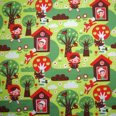 Children fabric ::: Little red riding hood fabric