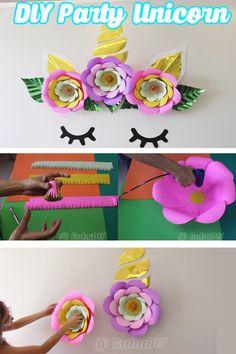 Party decoration - unicorn theme - do it yourself DIY - Decoração com o tema Unicórnio Kawaii