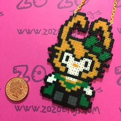 Loki Hello Kitty Perler Necklace by ZoZoTings