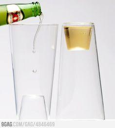 beer glass = shot glass?