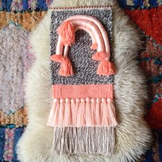 Woven wall hanging by Maryanne Moodie