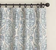 Ashlyn Paisley Pole Pocket Blackout Drape, 50 x 63 Senior Assisted Living, Organic Duvet Covers, Blackout Drapes, Modern Outdoor Furniture, Soothing Colors, New Room, Pottery Barn, Home Furnishings, Paisley