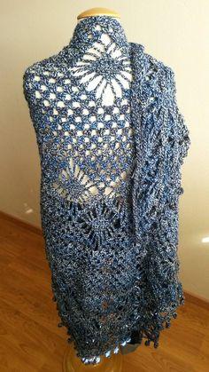 jeansblauwe omslagdoek