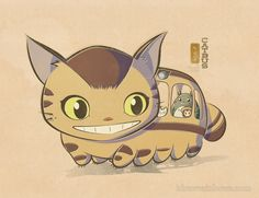 Squishy Catbus by idrawrainbows.deviantart.com on @deviantART - Note that Mei, Totoro, and Chibi Totoro are riding inside ;)