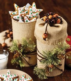 Burlap-Wrapped Treat Boxes